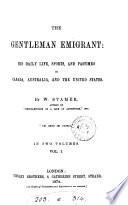 The Gentleman Emigrant