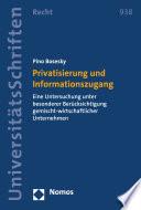 Privatisierung und Informationszugang