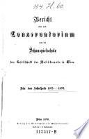 Jahresbericht des Konservatoriums der Musik