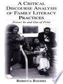 A Critical Discourse Analysis of Family Literacy Practices Complexity Of Family Literacy Practices