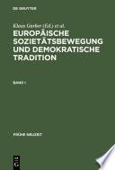 Europäische Sozietätsbewegung und demokratische Tradition