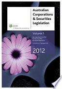 Ebook Australian Corporations & Securities Legislation, 2012, Vol 1 Epub N.A Apps Read Mobile