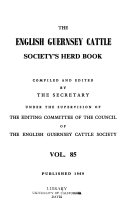 The English Guernsey Cattle Society s Herd Book Book PDF