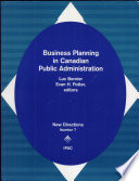 Business Planning in Canadian Public Administration