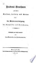 Friedens-Benehmen zwischen Bossuet, Leibnitz und Molan für die Wiedervereinigung der Katholiken und Protestanten