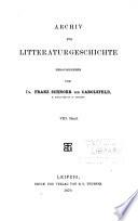 Archiv für Litteraturgeschichte