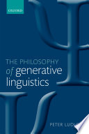 The Philosophy Of Generative Linguistics book