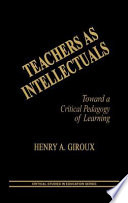 Teachers as Intellectuals The Greater Community Giroux Demands Reader Involvement