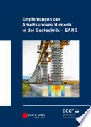 Empfehlungen des Arbeitskreises  Numerik in der Geotechnik    EANG