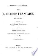 Catalogue général de la librairie française: 1876-1885