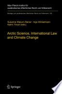 Arctic Science  International Law and Climate Change