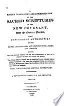 A Revised Translation and Interpretation of the Sacred Scriptures  After the Eastern Manner