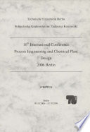 16th International Conference  Process Engineering and chemicalplantdesign