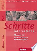 Schritte International 2  Niveau A1 2   Glossar XXL Deutsch Englisch  Glossary German English
