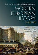 download ebook the wiley-blackwell dictionary of modern european history since 1789 pdf epub