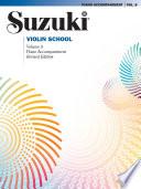 Suzuki Violin School   Volume 8