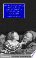 Sonnet Sequences and Social Distinction in Renaissance England