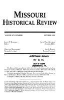 Missouri Historical Review