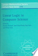 Linear Logic In Computer Science book