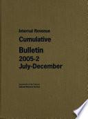 Internal Revenue Cumulative Bulletin