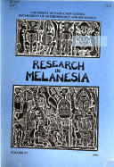 Research in Melanesia