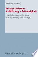 Protestantismus, Aufklärung, Frömmigkeit