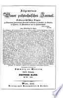 Allgemeines Wiener polytechnisches Journal. Hrsg. von Wilhelm Schwarz