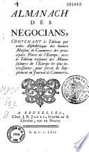 Almanach Des N Gociants