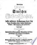 Auserlesene Proben des teutschen Lehen-rechts