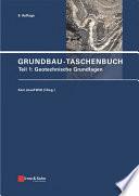 Grundbau-Taschenbuch, Teil 1
