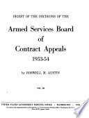 Digest of the Decisions of the Army Board of Contract Appeals Book PDF
