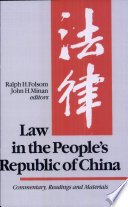 Law in the People s Republic of China