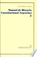 Manual de Historia Constitucional Argentina