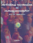 Methods and techniques in human geography