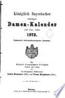 Königlich-bayerischer adeliger Damen-Kalender