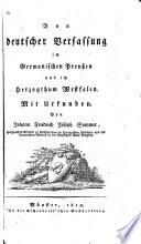 Von deutscher Verfassung im Germanischen Preussen und im Herzogthum Westfalen