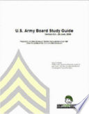 U  S  Army Board Study Guide