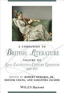 A Companion to British Literature, Volume 3