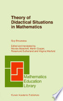 illustration Theory of Didactical Situations in Mathematics, Didactique des Mathématiques, 1970–1990