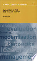 Evaluation In The Irish Health Sector
