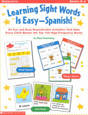 Learning Sight Words Is Easy   Spanish