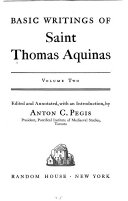 Basic writings of Saint Thomas Aquinas