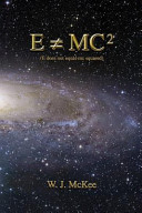 Book E Does Not Equal Mc Squared