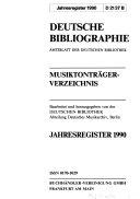 Book Deutsche Bibliographie