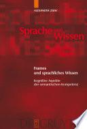 Frames und sprachliches Wissen
