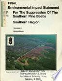 Southern Pine Beetle Suppression Program  Southern Region