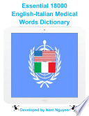 Essential 18000 Medical Words Dictionary In English Italian