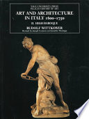 Art and Architecture in Italy  1600 1750