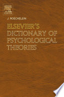 Elsevier s Dictionary of Psychological Theories