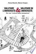 Valutare l Universit     Valutare in Universit    Per una  cultura della valutazione